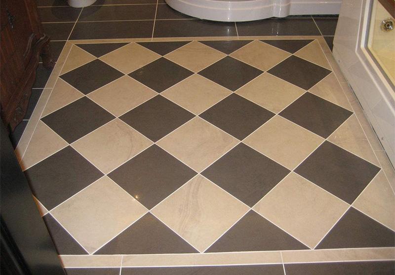 卫生间瓷砖美缝效果图(白色美缝剂)