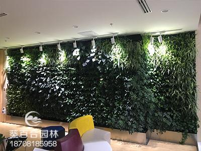 太平洋金融大厦绿植墙