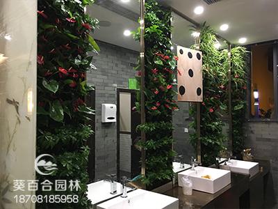 泰和园中餐生态植物墙