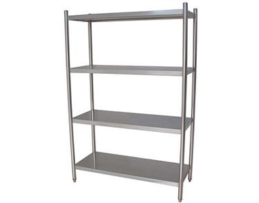 不锈钢四层板式存物架