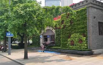滨江西路公厕垂直綠化