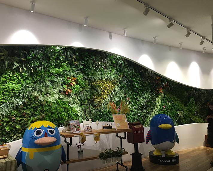 腾讯西南总部植物墙