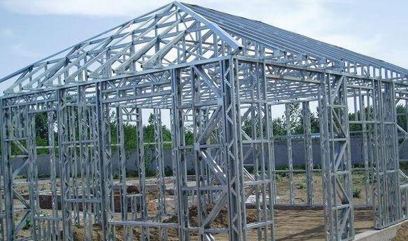 钢结构厂房在搭建常德远大专业承包各种工程