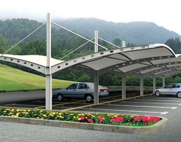 广场膜结构车棚