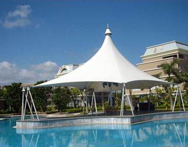 游泳馆膜结构雨棚