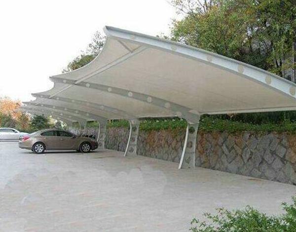 公交站膜结构雨棚