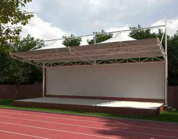 体育场膜结构雨棚
