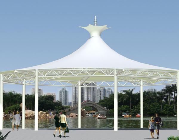 公园膜结构遮阳棚