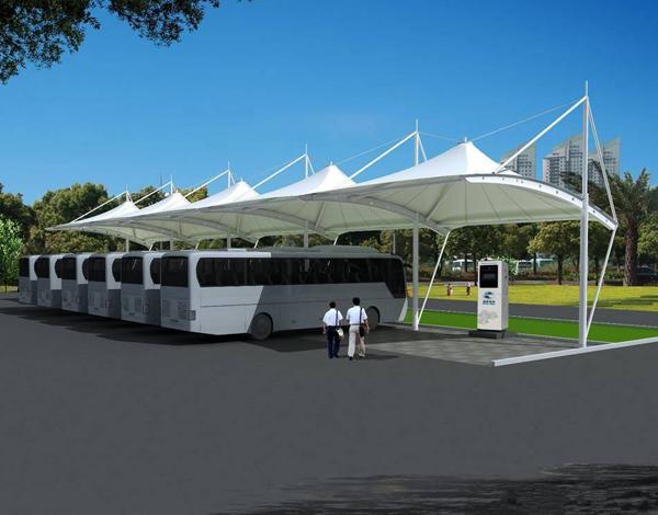 公交膜结构充电桩
