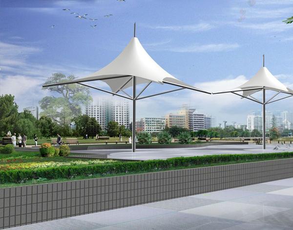 街道景观膜结构