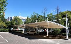 沈阳膜结构车棚施工