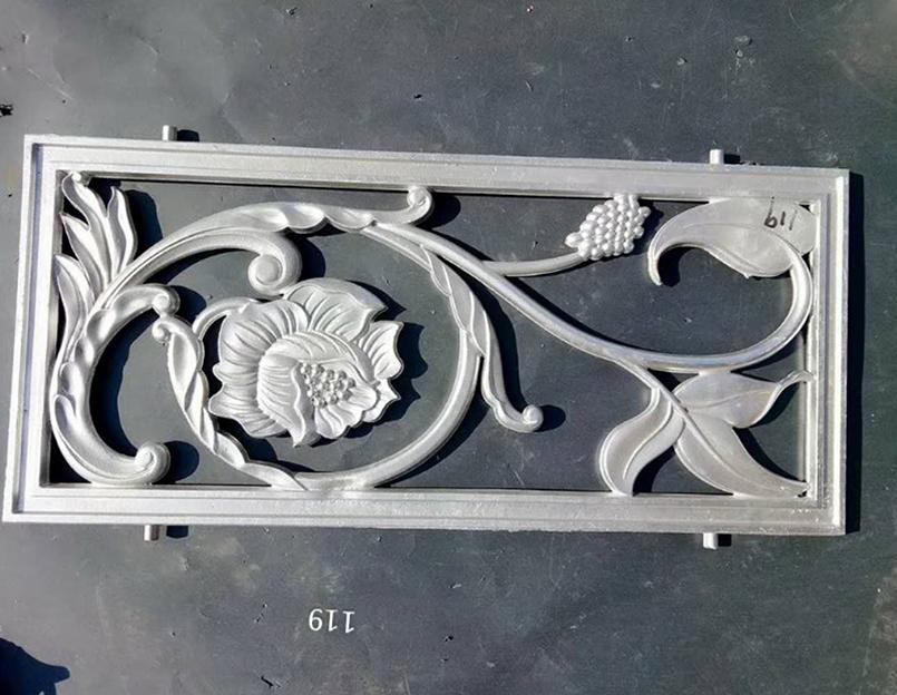 花型雕饰铝艺大门