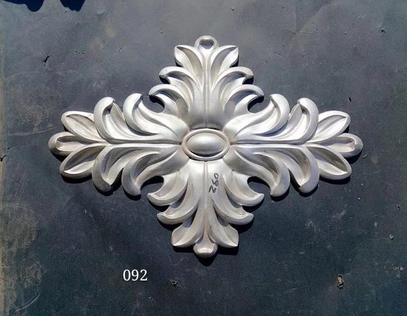 印花雕饰铝艺大门
