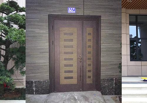 鋼木裝甲防盜門