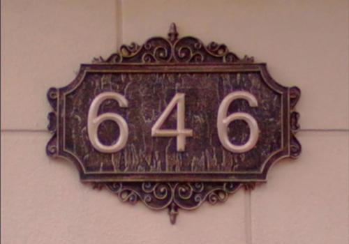 铸铝门牌号