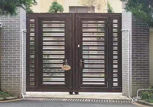 中式鑄鋁門
