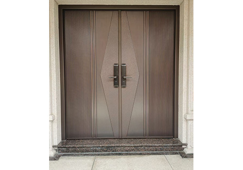 双开铸铝门