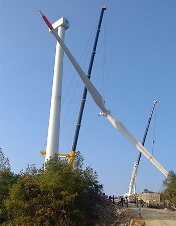 湖北利川风电吊装