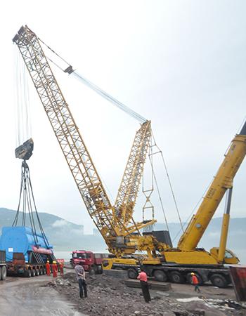 万州电厂锅炉设备吊装