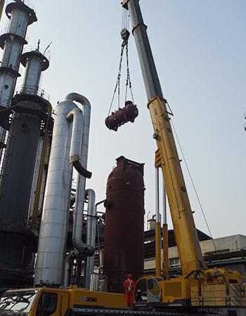 潼南化工厂设备检修吊装