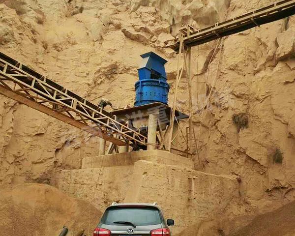 立轴式复合制砂机施工现场