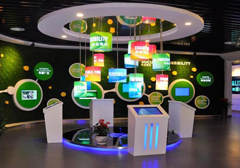 重慶思建科技展廳設計搭建效果
