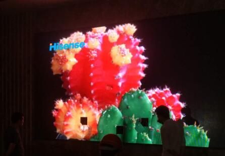 江津某售房部室内P3全彩led显示屏