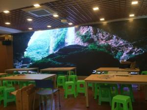 长寿晶山小学室内LED显示屏P2.5全彩