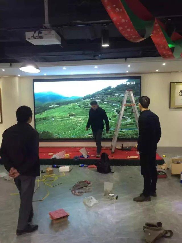 重庆大礼堂仁捷博物馆室内LED显示屏P3全彩