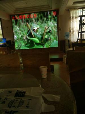 重庆璧山巴南彭记大酒楼室内LED显示屏P3全彩