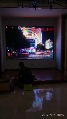 重庆涪陵江东大饭店室内两块LED显示屏P4全彩