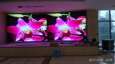重庆大渡朗豪大酒楼室内P4全彩LED显示屏