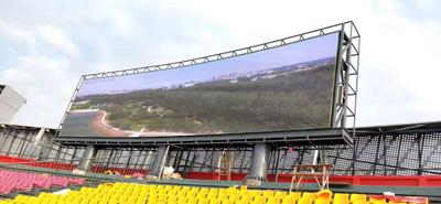 重庆市巴南鱼洞体育馆户外P8LED显示屏