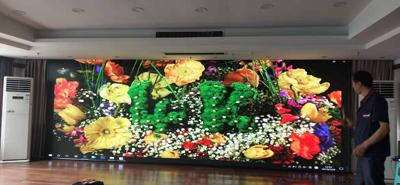 重庆沙坪坝歌乐山某酒店室内两块P3全彩LED显示屏