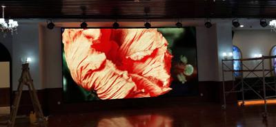 重庆白象街303剧场室内P4全彩LED显示屏