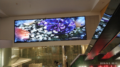 重庆来福士广场商场2块户内P3LED显示屏