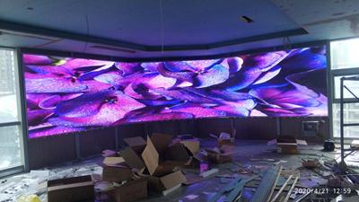 贵州遵义某世贸城室内小间距LED全彩显示屏