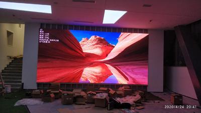 合川东津沱某美术馆室内小间距全彩LED 大屏