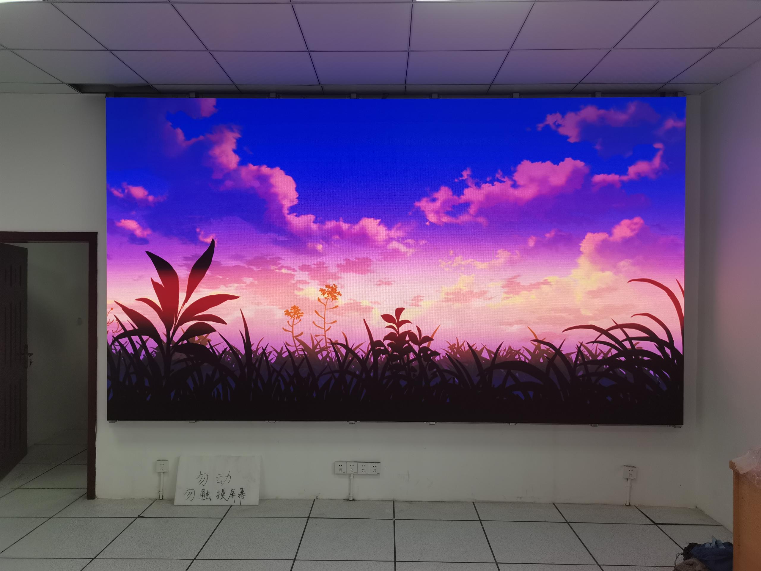 渝北公安局室内P1.56LED显示屏