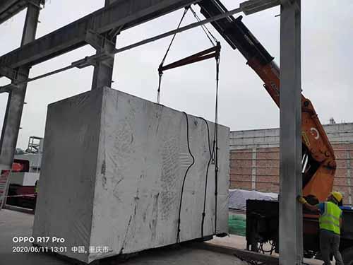 重庆康明斯新厂德国莱茨三座标卸车现场
