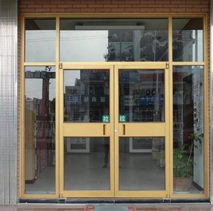 铝型材门安装