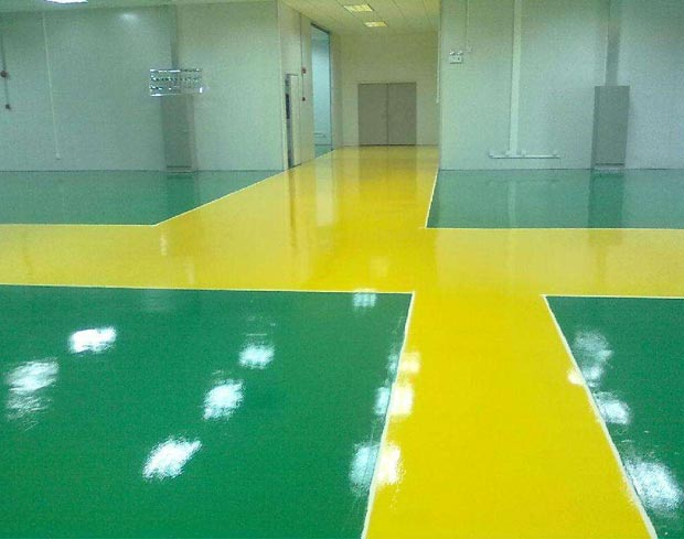 地坪漆工程完工后出现环形孔的原因及解决方法