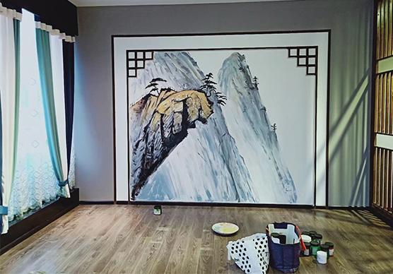 重庆手绘壁画与壁纸区别