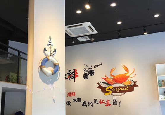 自助餐手绘墙施工