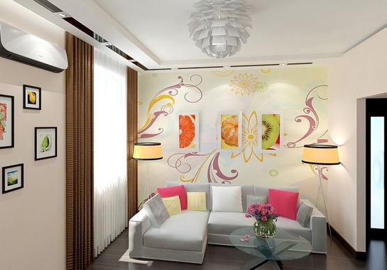 客厅彩绘施工