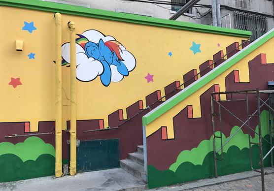 幼儿园外墙墙绘