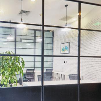 钢框架防火玻璃隔墙