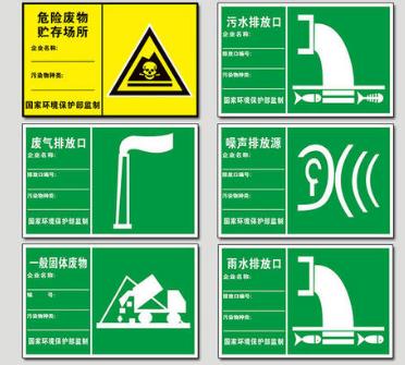 符合规范的ag真人厅、废气排放口及标志牌