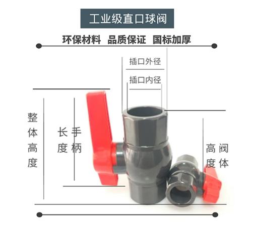 UPVC工業直口球閥