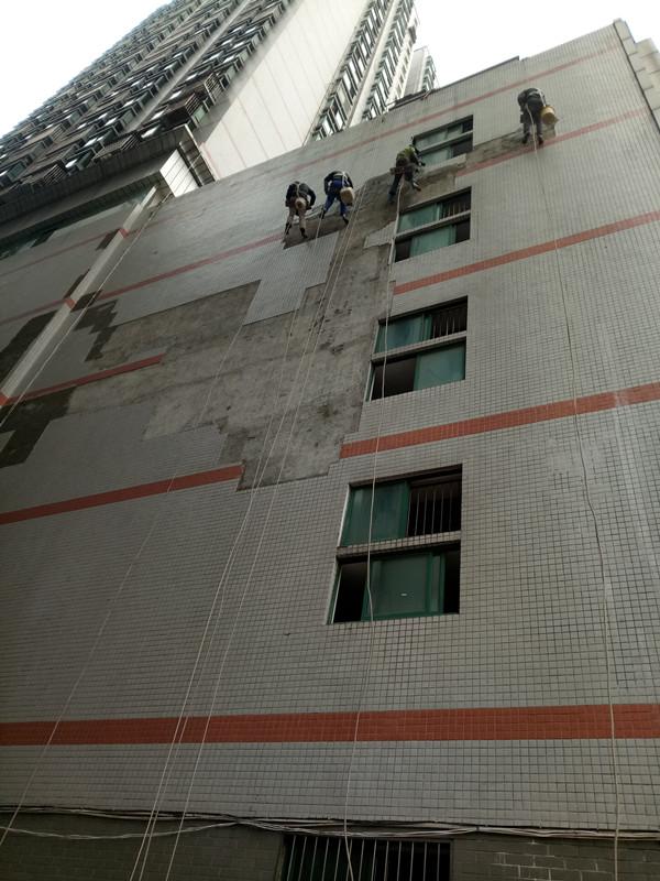 對建筑物外墻清洗必須采取以下安全措施